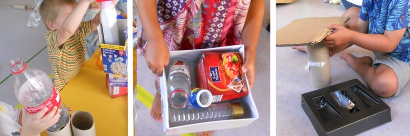 Imaginació a les escoles bressol amb material reciclat - Cavall de Cartró