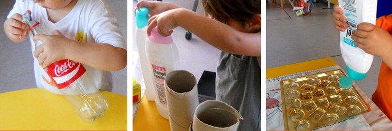 Juguem a l'escola bressol amb material reciclat - Cavall de Cartró