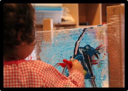 Pintura al llenç transparent - Els Fesolets Malgrat de Mar