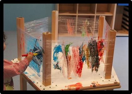 Pintura amb fons transparent - Els Fesolets Malgrat de Mar