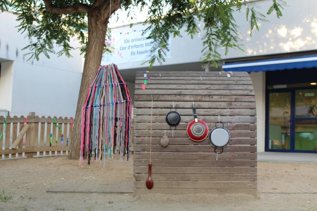 Elements sonors al patí jardí de l'escola bressol a Malgrat