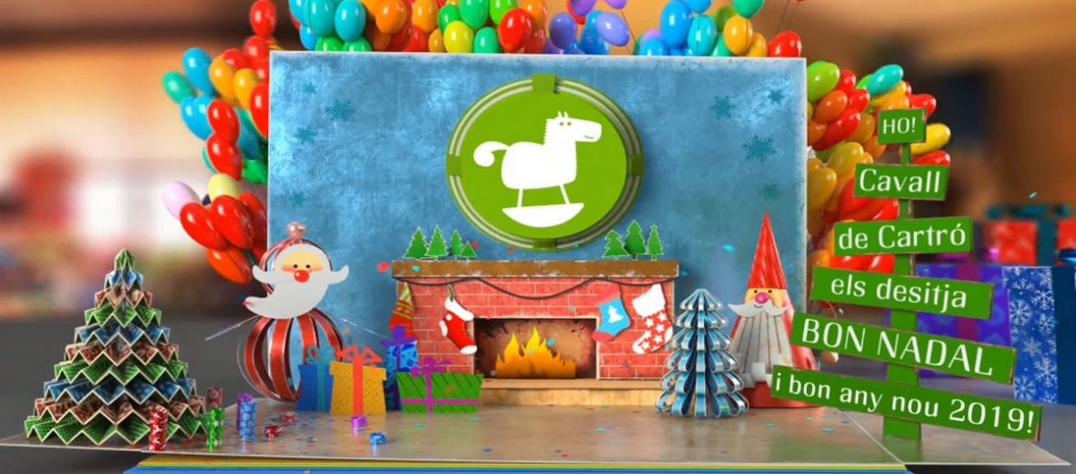 Bon Nadal feliç any 2019 escoles bressol Cavall de Cartró