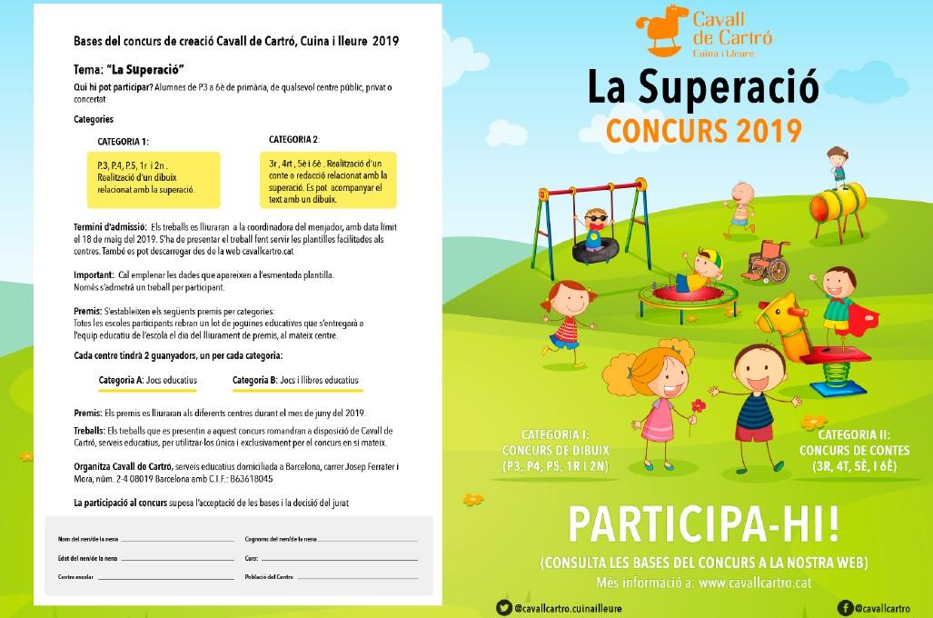 Butlleta participació concurs escolar Cavall Cartró 2019