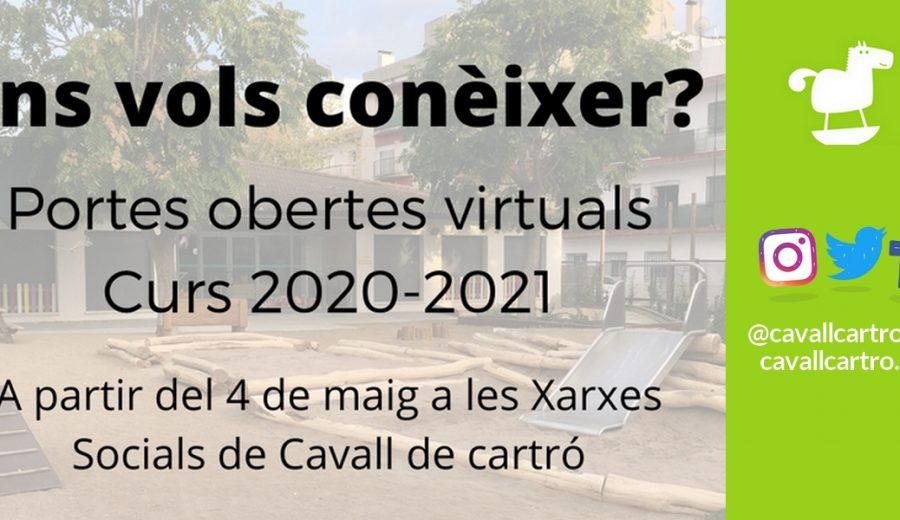 Portes obertes virtuals escoles bressol 2020-2021